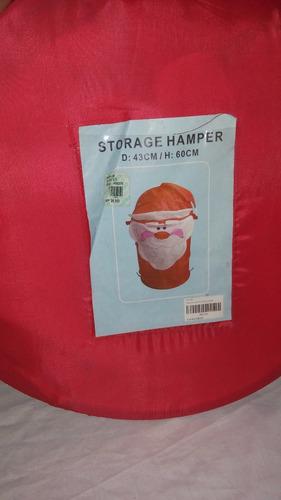 cesta de ropa d navidad, plegable circular alto 60cm x 43 d
