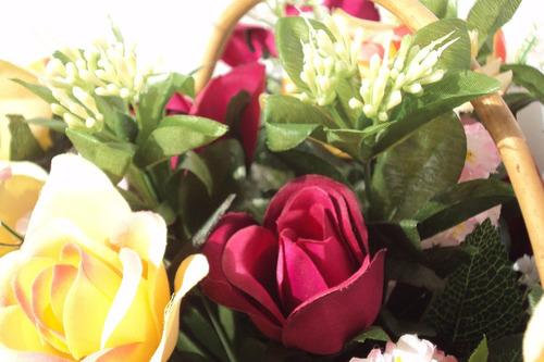 cesta de rosas - arranjo floral - dia das mães