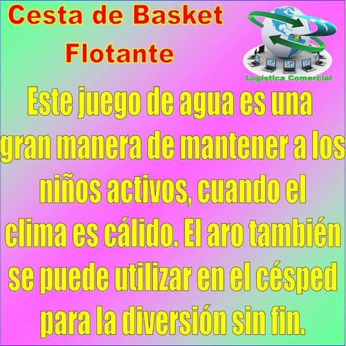 cesta flotante de basket inflable + pelota playa 58504 intex