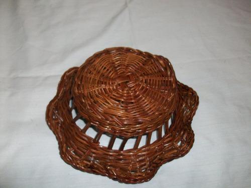 cesta mimbre decorar hogar usada oferta remate d hoy