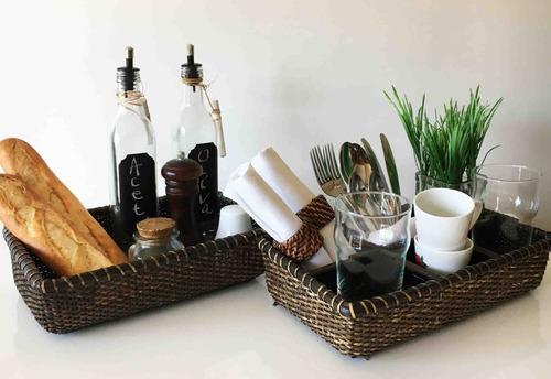 cesta organizadora de cocina con 6 espacios