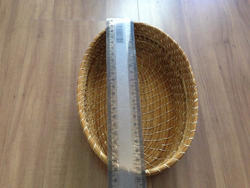 cesta oval s/ tampa ( decor ou porta joias) em capim dourado