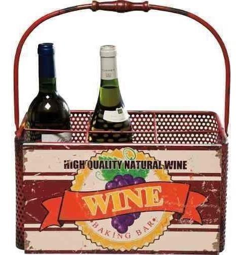 cesta para botellas wine vintage kare (35908)