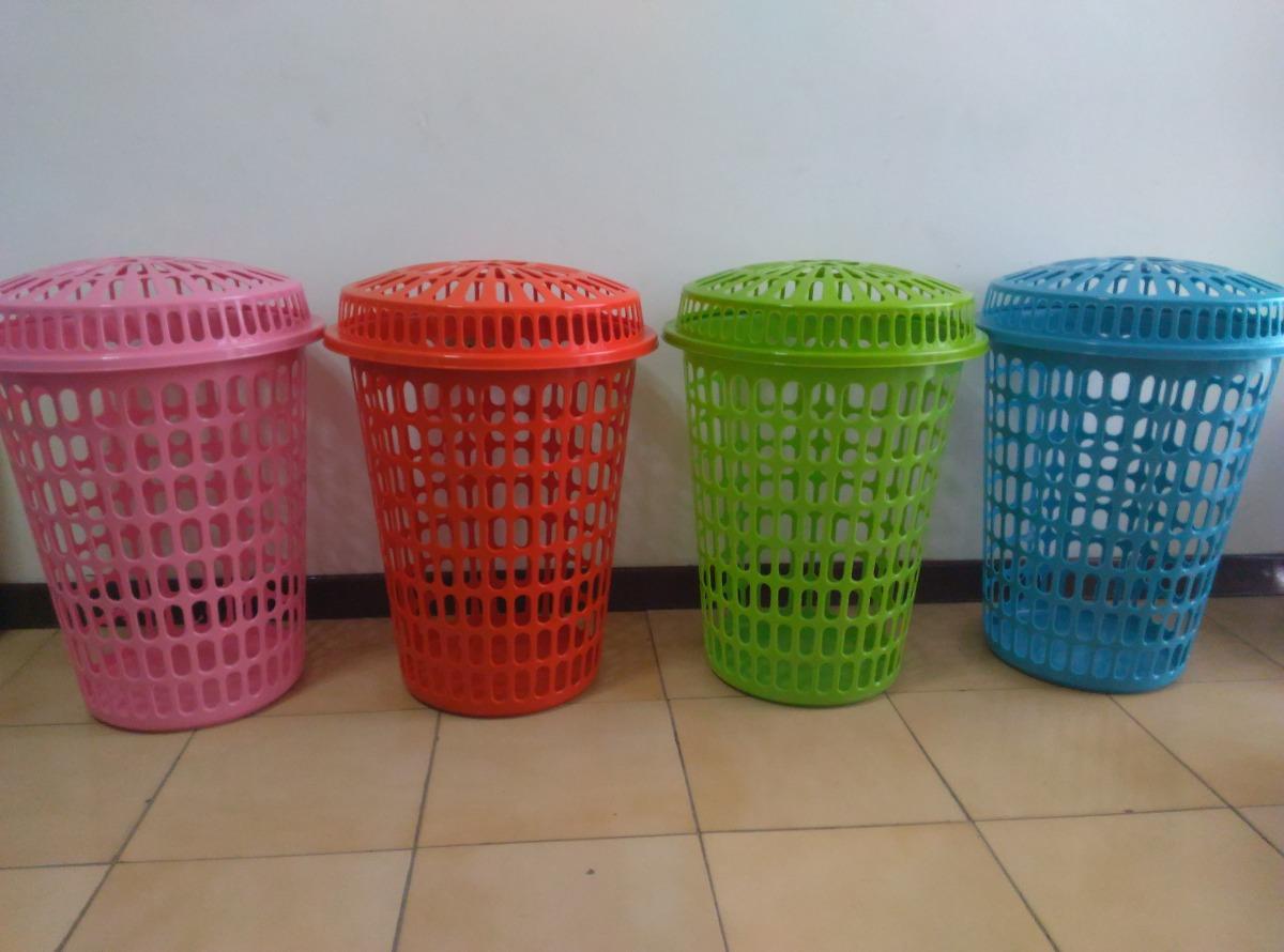 Cesta pl stica para ropa sucia colores varios bs 10 - Cesta ropa sucia ...