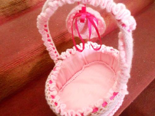 cesta porta recuerdos para bebes