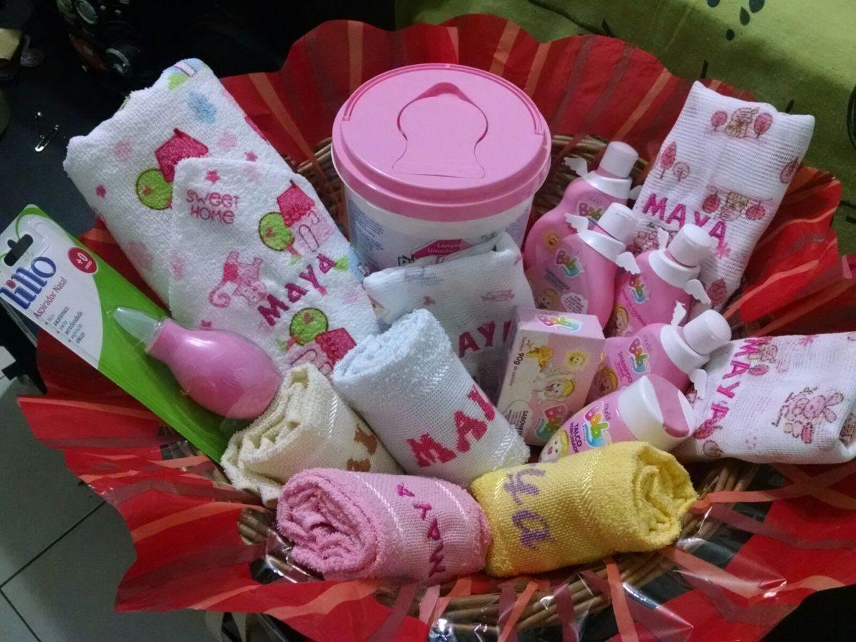 Cesta presente ch de beb rec m nascido r 199 90 em - Cestas de mimbre para bebes ...