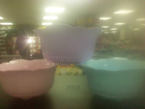 cestas  para para candy bar o decoracion tipo colador