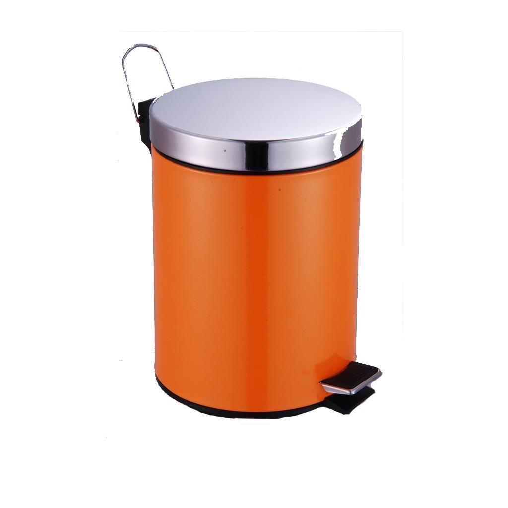 cesto basura tacho pedal naranja tapa acero inox 12 litros. Cargando zoom. 95a0e4e8455f