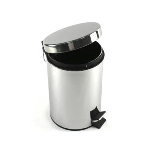 cesto basura tacho residuo 3lt pedal acero inoxidable oferta
