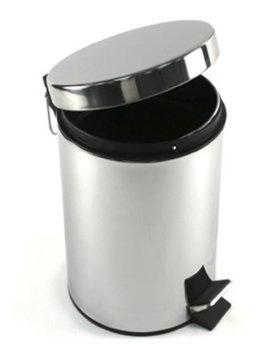 cesto basura tacho residuo pedal 12 lt pedal acero inoxidabl