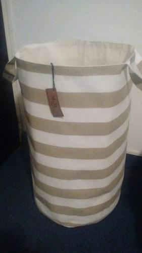 cesto bolsa organizador juguetes ropa extra grande r/tostado