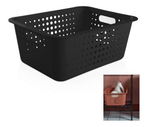 cesto caixa organizador 14,5 l grande lavanderia armário