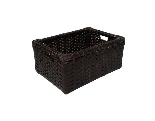 cesto caixote vime sintético argila 30x25x15