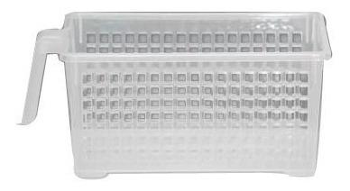 cesto calado rectangular c manija grande colombraro pack x 3
