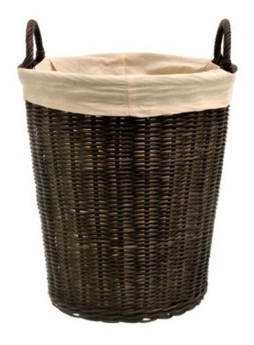 cesto canasto ropa sucia ratan manijas lavadero c tela ramos
