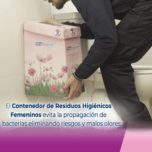 cesto contenedor de residuos higiénicos femeninos prohygiene