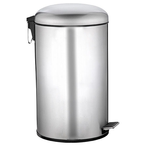 cesto de 20 litros tacho de basura de acero inoxidable