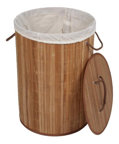 cesto de bambu ripado acasa móveis carbonizado iewt
