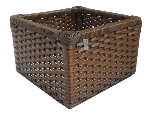 cesto de fibra sintética argila 30x30x20
