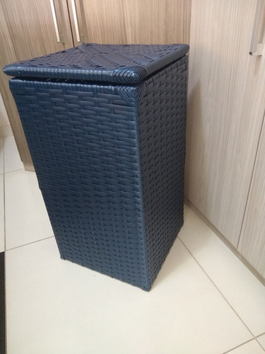 cesto de fibra sintetica para roupas