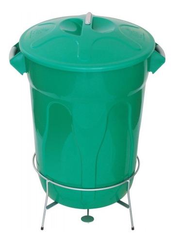 cesto de lixo com pedal 60 l com armação em aço galvanizado