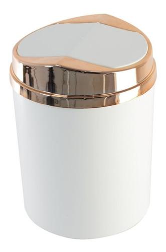 cesto de lixo com tampa basculante 5l cozinha banheiro