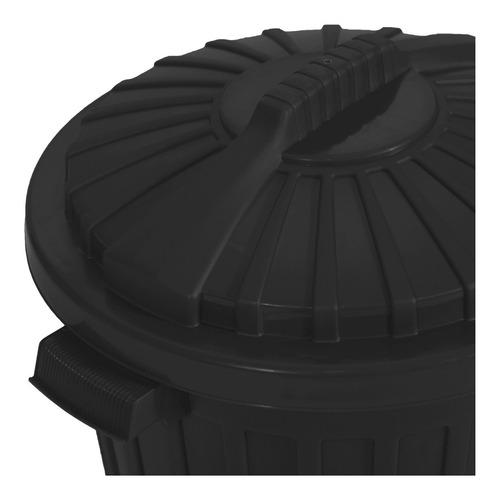 cesto de residuos americano 60 lts negro, colegios restaurantes club hogar garden life