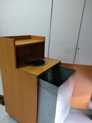 cesto de residuos de madera tipo camisas rapidas