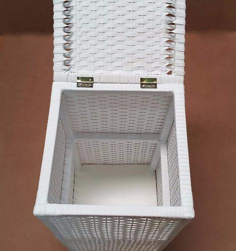 cesto de roupa fibra sintética roupeiro 40x40x70