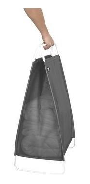 cesto de roupas cinch cinza