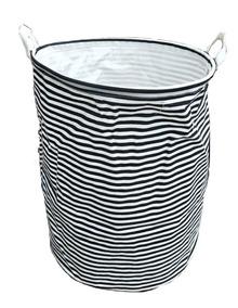 c/úbico gris oscuro Canasto de tela Basics alto