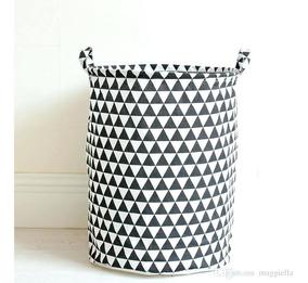 Cesto Laundry Para Ropa Sucia O Limpia Modelo Triángulos