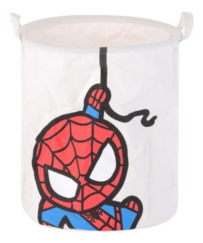 cesto organizador dobrável miniso - homem aranha