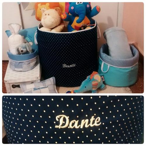 cesto organizador personalizado (juguetes, ropa, etc).