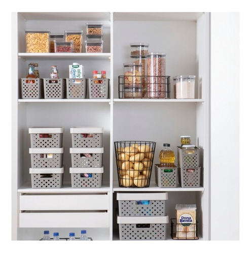 cesto para armários,closet,banheiro,dispensa quadratta 891