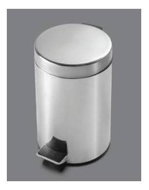 cesto para baño o cocina pringles 5 lts acero inoxidable