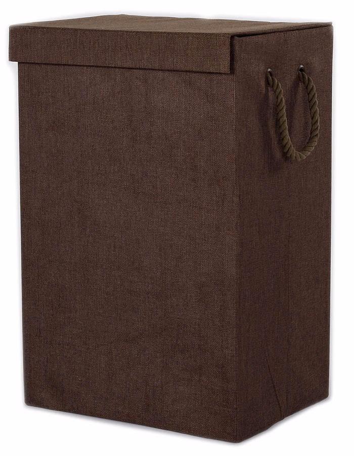 Cesto para ropa de tela chocolate recamara ropero dicsa - Cestos de tela ...
