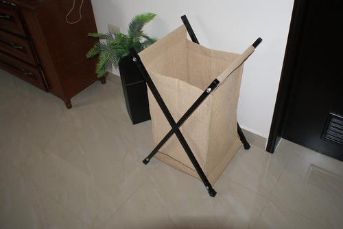 cesto para ropa plegable color beige