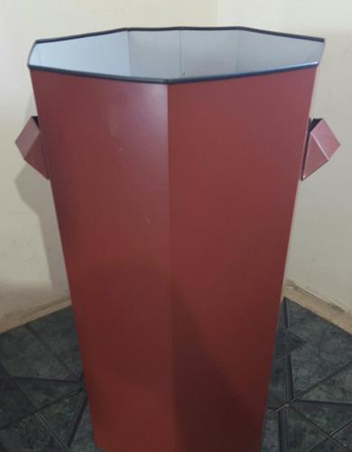 cesto para ropa sucia en chapa prepintada