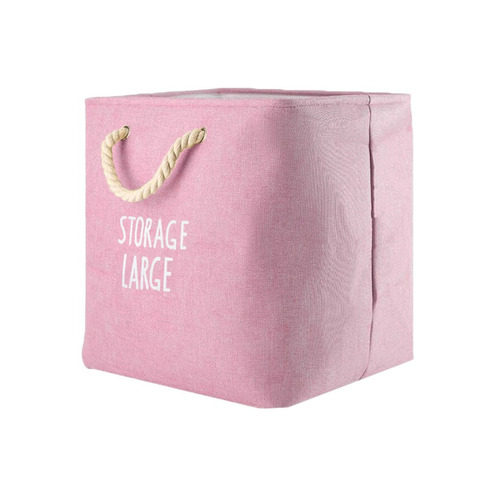 cesto para ropa sucia modelo nevada rosa - cr6561