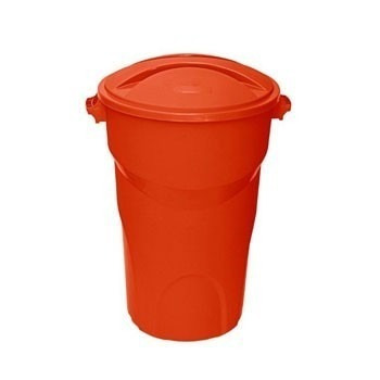 cesto plástico branco 150 litros com tampa color para água