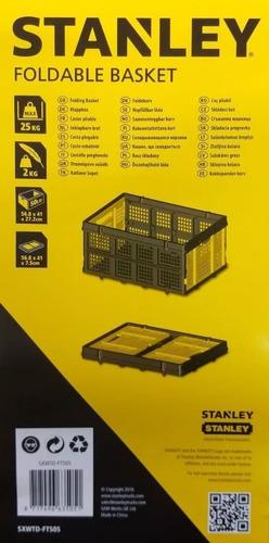cesto plegable stanley ft505 plástico 25 kg de capacidad