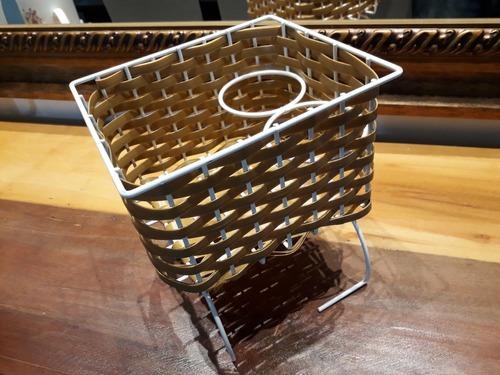 cesto porta treco fusca palha cores cestinha brasilia