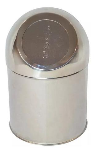 cesto residuos de mesada 1.25 lts acero inox satinado bh