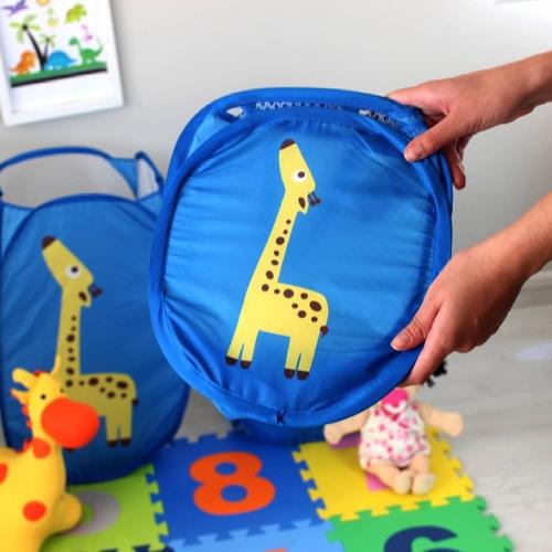 cesto roupas brinquedos infantil menina menino organizador
