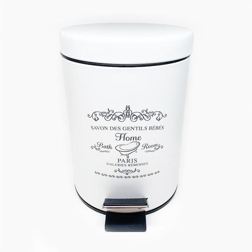 cesto tacho baño 3 litros blanco vintage balde desmontable