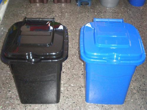 cesto tacho de basura residuos plastico 50 ltrs.tapa visagra