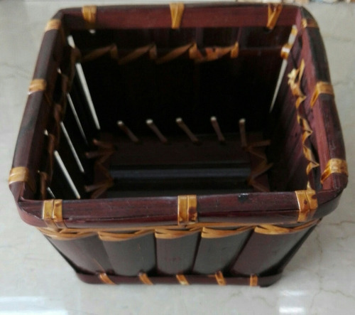 cesto variedad de usos 15x15x9cm fino origen tailandia