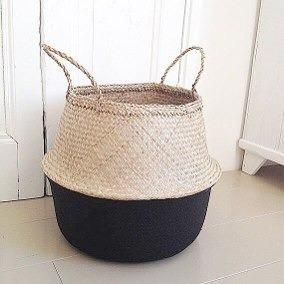 cestos en fibra natural decorativos