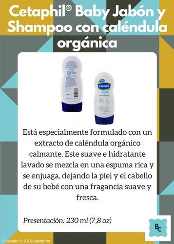 cetaphil® baby jabón y shampoo caléndula- botik